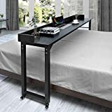 ORAF Overbed Table with Wheels, 70.8'' Rolling Bed Desk for Queen/Full Size Bed,...