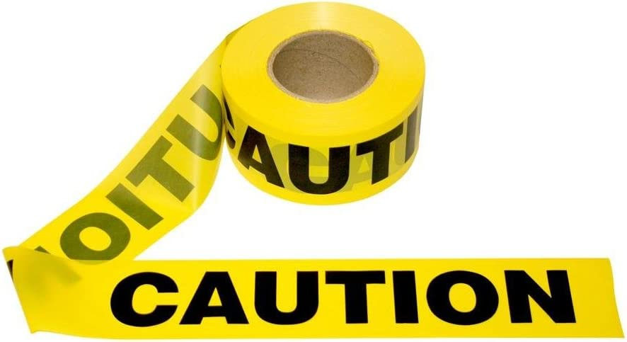 Cordova Safety Products Pro Pack Yellow Caution Barricade Tape,