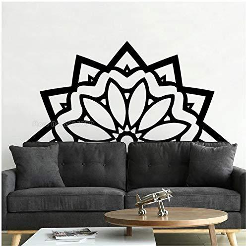 WYLYSD Medio Mandala Pegatinas De Pared Decoración Para El Hogar Calcomanías De Pared Meditación Yoga Estudio Sala De Estar Papel Tapiz Artístico 111 Cm X 56 Cm