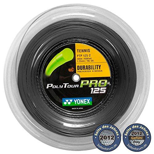 Yonex Saitenrolle Poly Tour Pro, Schwarz, 200 m, 0195220121100010