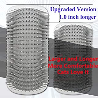 【Upgraded Version】 Cat Dog Self Groomer Brush (Longer and Softer) 2 Pack Dog Cat Wall Corner Grooming Combs, Scratchers and Brushes for Short Long Fur Cats,Softer Massage Toy for Kitten Puppy