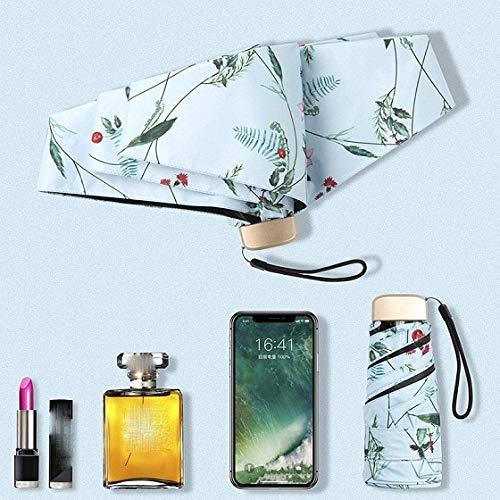 PPGG Paraplu's 2019 Nieuwe Mini Verse Zonnebrandcrème 5 Vouwen Zon Paraplu Innovatieve Ultralight Pocket Vouwen Paraplu 25 Kleuren Als Beeld