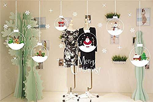 Nieuwjaar Kerstman muurschildering Rendier Shop Raam Stickers Decoratieve Kerstmis muur Stickers Glas Sneeuwvlok Ramen DIY Home Kerst Decoratie Maat: 64 * 50cmKerstmis Home Decor