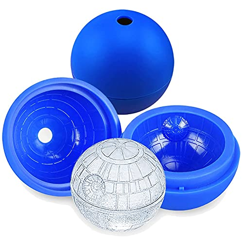 Ice Cubes-4pcs Silicone Ice Mold Ice Cubes Tray Sphere Big Ice Ball Maker for Whiskey Cocktail Drinks