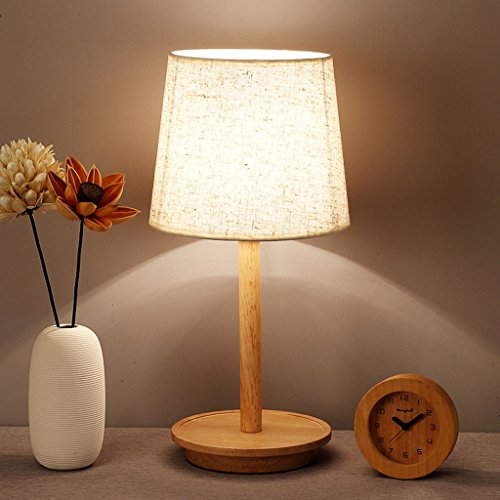 Dormitorio nórdico Lámpara de mesa de madera Lámpara de escritorio decorativa de madera creativa Lámpara de escritorio decorativa de madera maciza Mesita japonesa Luz