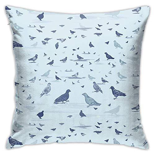 Funda de Almohada Pigeon World Sports 18'x18 Funda de Almohada de algodón estándar Protector de Almohada