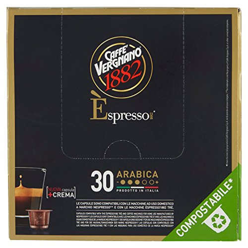 Caffè Vergnano 1882 Èspresso1882 Arabica - 30 Capsule - Compatibili Nespresso