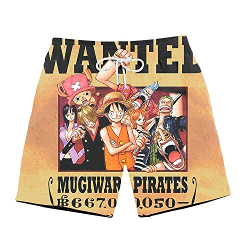 Spricen Hombres Pantal Ones de Playa Natación Pantal Ones Cortos Shorts Verano Sport Surf Cal zoncillos Anime One Piece J M