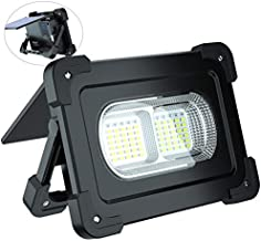 Portable LED Work Light, ErayLife Solar Rechargeable Floodlight with USB Port/Bluetooth Speaker/ 80W 6000 Lumens/Solar Panel/ 4 Lighting Modes/Magnet, Idea for Outdoor, Car Repairing and Emergency