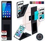 reboon Hülle für Huawei Honor 3C H30-L02 Tasche Cover Case Bumper | Schwarz Leder | Testsieger