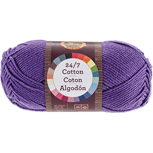 Lion Brand Yarn 761-147 24-7 Cotton Yarn, Purple