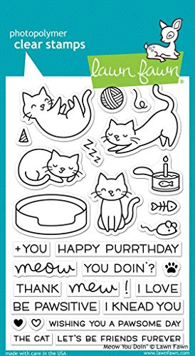 Lawn Fawn Clear Stamps - Meow You Doin' (LF1315)