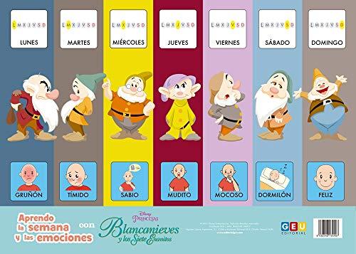Láminas educativas infantiles con pictogramas: Aprendo La Semana y Las Emociones con Blancanieves y Los Siete Enanitos   Vocabulario visual niños 3 A ... escolar infantil y Educación Especial)