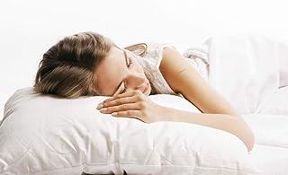 Linens Limited - Almohada hipoalergénica de percal sintético - Estilo Hotel - Blanco - Aprox. 48 x 74 cm