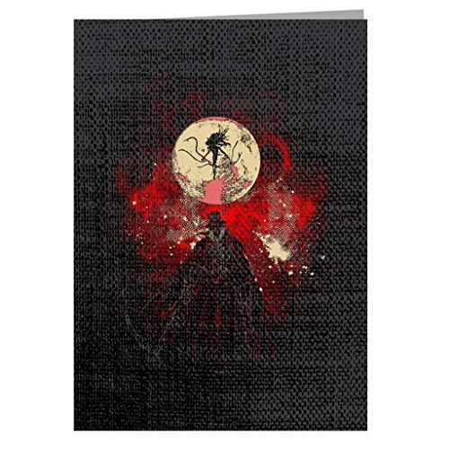 Moon Presence Silhouette Bloodborne Greeting Card