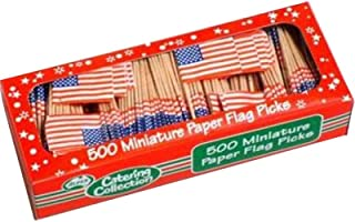 Usa Flag Picks Pack Of 500 One Size