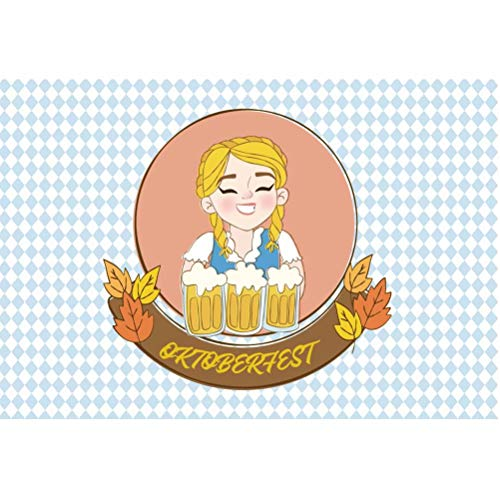 Leowefowa 1,5x1m Vinilo Oktoberfest Telon de Fondo Alemania Chica Camarera Jarras De Cerveza Celebración del Oktoberfest Fondos para Fotografia Party Photo Studio Props Photo Booth