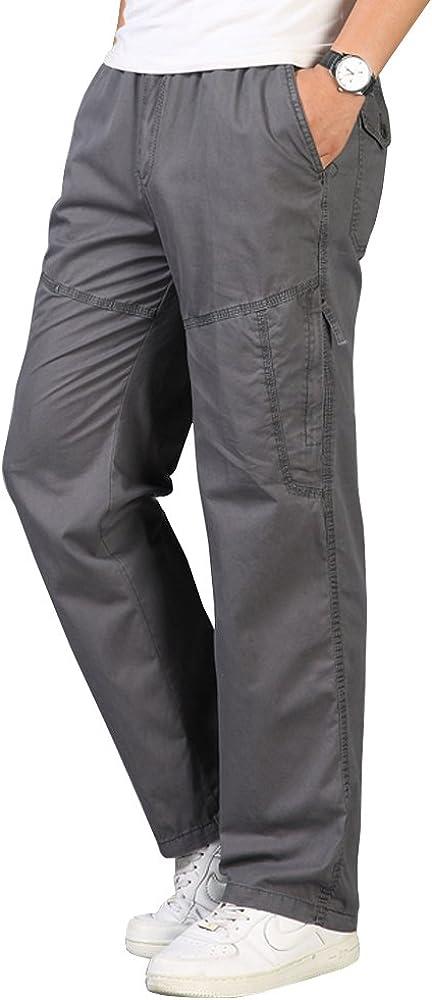 Sale price OCHENTA Men's Max 59% OFF Elastic Waist Relaxed Straight Leg Pull On C Baggy