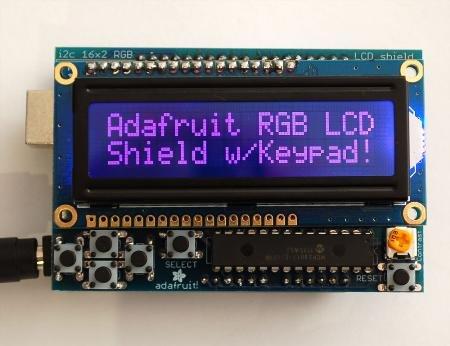 Adafruit RGB LCD Shield w/ I2C Interface