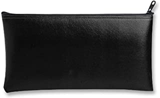 MMF Industries Leatherette Zipper Wallet, 11 x 6 Inches, Black (2340416W04)