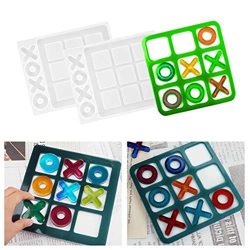 Iriisy Molde de resina de silicona,para juego de ajedrez pequeño, molde de...