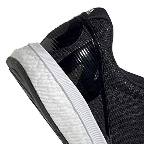 adidas Men's Adizero Boston 8 Running Shoe, Black/White/Grey, 12 M US 9