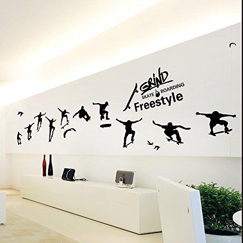 HCCY creatieve sport muur sticker jongens slaapzaal slaapkamer fitness kamer muur decoratie persoonlijkheid slee posters zelfklevend papier