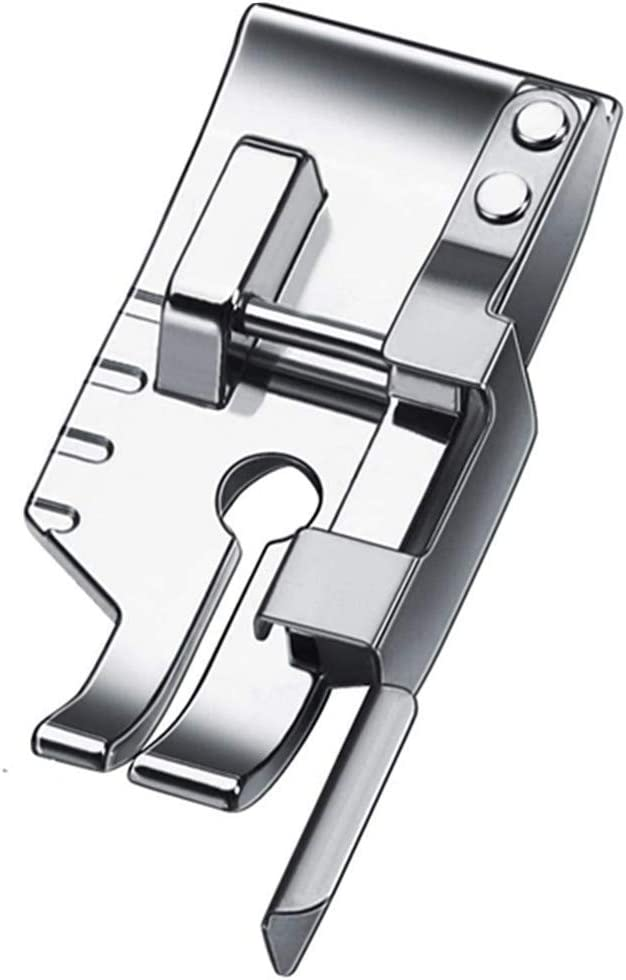YRDQNCraft 1/4'' Quilting Patchwork Presser Foot with Edge Guide Fit All Low Shank Snap-On Singer, Brother, Babylock,Janome, Juki, Kenmore, New Home, White, Simplicity