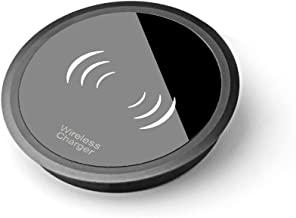 Wireless Charger,Mini Portable Metal Qi Certified 10W Desk Fast Wireless Charger Charging Pad Stand for iPhone iPhone XR/XS/Max/X/8/8 Plus Samsung Galaxy S9, S9 Plus, Note 8