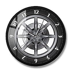 Car Repair Workshop car tire Wheel Custom car auto Wall Clock Vintage Watch Cool Mechanic Gift Ideal for car Workshop-Metal Frame No Name