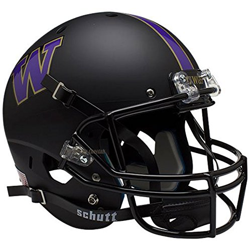 Washington Huskies Black Officially Licensed Full Size XP Replica Football Helmet