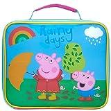 Peppa Pig Bolsa térmica térmica térmica para niños para la escuela o la guardería, poliéster, rosa, talla única