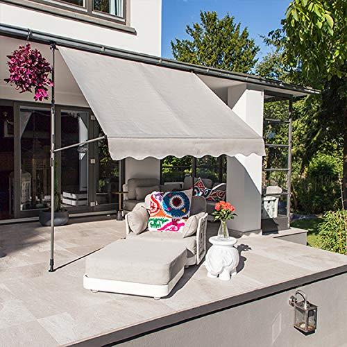 Mojawo Cenador de lujo para jardín, 3 m x 2,5 m, estructura de acero, techo de PA revestido, resistente al agua