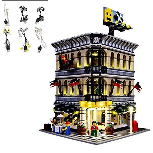 YLJJ DIY USB LED-Lichtset für (Grand Emporium) Bausteine Modell, LED-Beleuchtungsset Kompatibel mit Lego Grand Emporium 10211 Kinder (Modell enthalten)