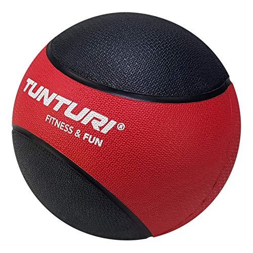 Tunturi Medizinball Gummi, Ror/Schwarz, 3 kg, 14TUSCL319
