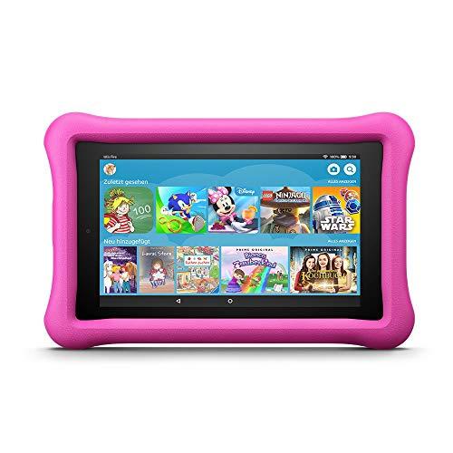 Fire 7 Kids Edition-Tablet, 17,7 cm (7 Zoll) Display, 16 GB, pinke kindgerechte Hülle (vorherige Generation – 7.)