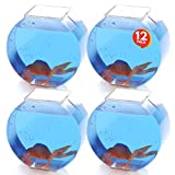 ArtCreativity Plastic Fish Bowl Set - 12 Pack - Cute Fishbowls for Carnival Ball Toss Games, Party Table Centerpieces - Unique Carnival Supplies, Birthday Party Decorations, Kids Activity