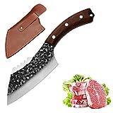 Coltello Coltello da cucina a mano forgiato forgiato macelleria hacking cinese chef cinese coltello modello a forma di pesce pestino kinder cutter Mannaia (Color : Kitchen knife)