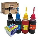 29XL tinta recargable y 4 x 50 ml botella tinta compatible para Expression Home XP-255 XP-257 XP-352 XP-355 XP-452 XP-455 XP-235 XP-245 XP-332 XP-335 XP-432 XP-435 XP-247 XP-442 XP-342 XP-345 XP-445