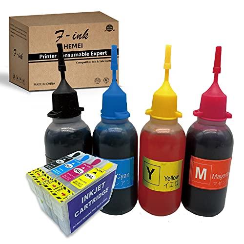 29XL tinta recargable y 4 x 50 ml botella tinta compatible para Expression Home XP-255 XP-257 XP-352 XP-355 XP-452 XP-455...