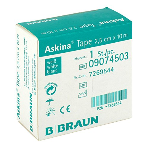 ASKINA Tape Pfl.unelast.2,5 cmx10 m weiß 1 St