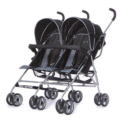 Dream On Me Twin Stroller, Dark Grey