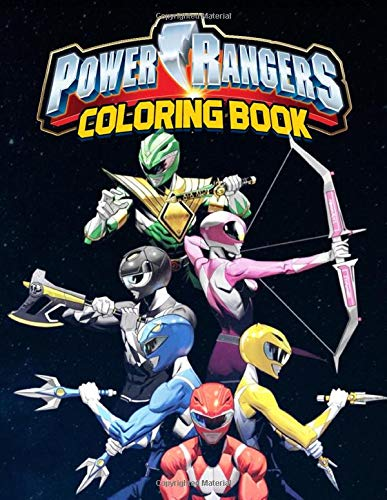 Power Rangers Coloring Book: Stress Relieving Coloring Book...