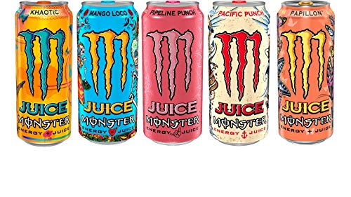 Monster Energy Juice (5 Flavor Variety Pack, 10 Cans)
