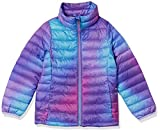 Amazon Essentials Girls' Light-Weight Water-Resistant Packable Mock Puffer Jackets, Purple Ombre, X-Small