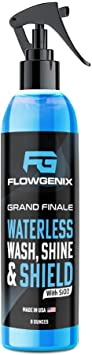 Flowgenix Best Car Wax Polish - Quick Detailer Car Spray for Cars, Motorcycles, Easy to Use Ceramic Car Wax for the Ultimate Ceramic Coating, Premium Waterless Car Wash with Hydrophobic Spray: image
