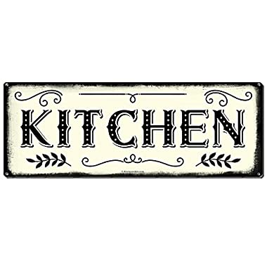 """Kitchen ~ Farmhouse Decor Signs ~ 6"""" x 16"""" Metal Sign ~ Rustic Vintage Wall Decor for Home, Restaurant, Cafe, Diner & Coffee Shop ~ Gifts for Farmers, Farm Theme Lovers, Housewarming (RK3008_6x16)"""