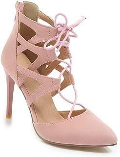 BalaMasa Womens ASL06390 Pu Heels