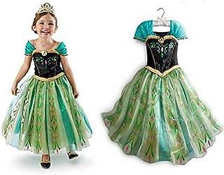 frozen elsa anna green costume for girls