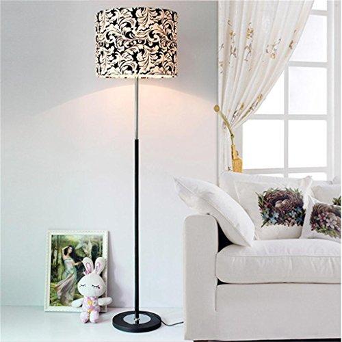 MENA HOME- Mode simple en noir et blanc phoenix lampe de sol en fleur salon de personnalité chambre en tissu lampe sur pied 38 * 155cm